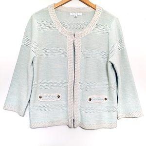CAbi | 3-Prong Closure Cotton Sweater/Cardigan(L)